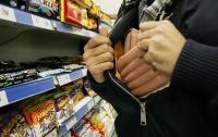 Киевский воришка вынес из магазина продуктов на несколько тысяч
