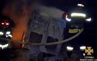 На Тернопольщине перевернулся и сгорел микроавтобус
