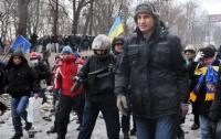 Кличко пришел к «Беркуту» на Грушевского
