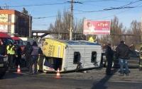 Жесткое ДТП в Днепре: столкнулось несколько маршруток, много пострадавших