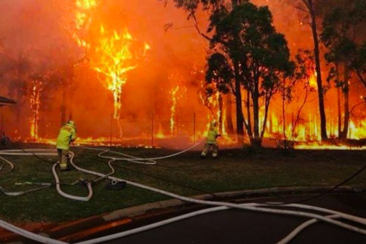 Природный пожар подступил кюго-западным пригородам Сиднея