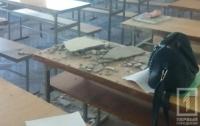 В одесском политехе во время занятий обрушился потолок