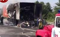 Под Киевом сгорел грузовик с письмами и посылками