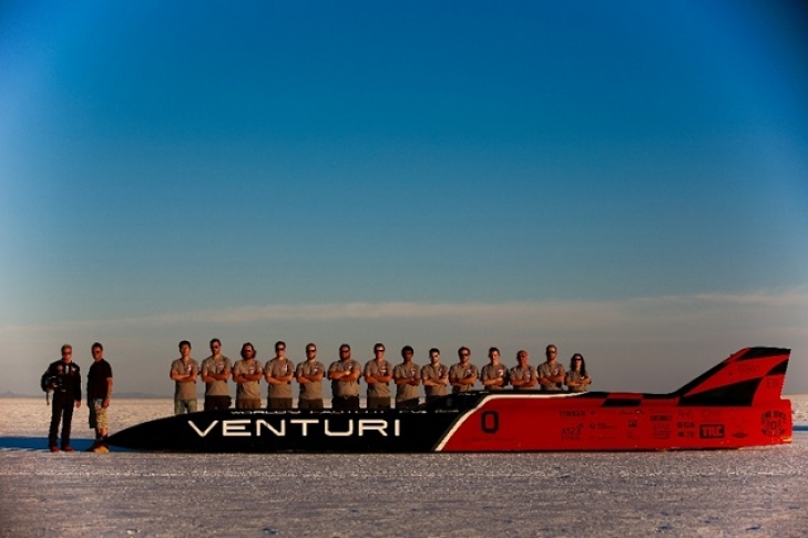 Самый быстрый электромобиль в мире Venturi VBB-3 показал скорость 576 км/ч