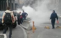 На Почтовой площади в Киеве вспыхнула иномарка