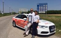 Автокорреспондент и автогонщица посетили 14 стран на Audi A6, установив мировой рекорд