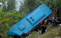 В Индонезии автобус слетел в овраг, погибли более 20 человек
