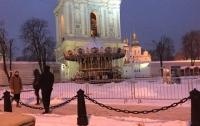 Жителей Киева возмутила новогодняя карусель возле святой Софии
