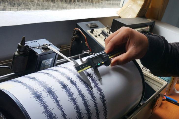 Упобережья Камчатки произошло землетрясение в5,3 балла