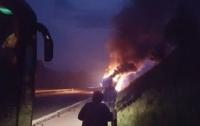 В Хорватии на трассе загорелся польский автобус с паломниками