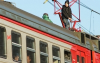 В Киеве подросток получил серьезные ожоги на крыше поезда
