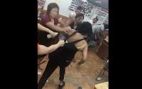 Мастера салона красоты побили палками недовольных клиенток (видео)