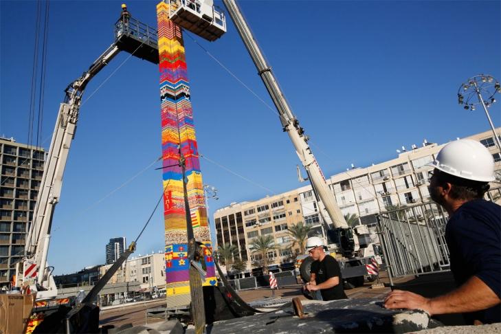 Недетский рекорд. ВТель-Авиве построили 36-метровую вышку изLego