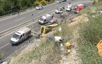 В Турции разбился автобус с туристами: погибли 20 человек