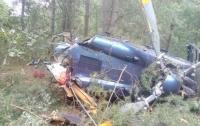 В центре Киева разбился вертолет