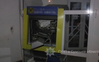 Злоумышленники взорвали банкомат в Сумах и похитили деньги