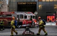 Автомобиль въехал в башню Trump Plaza в Нью-Йорке