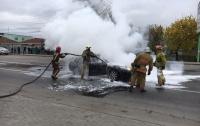 В Запорожской области взорвался автомобиль с газовым баллоном (видео)