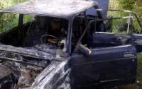 Пожар в Киеве: дотла сгорела машина