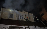 В Киеве произошел крупный пожар