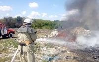 В Белой Церкви потушили пожар на городской мусорной свалке