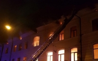 Чуть не выгорели все центральные здания Черновцов (видео)