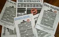 Австралийские газеты вышли с одинаковыми первыми полосами в знак протеста