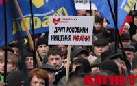 Во Львове вчера в гробу видали 2-летие правления Януковича (ФОТО)