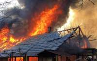 Пожар в киевском Гидропарке: горит сразу несколько сооружений