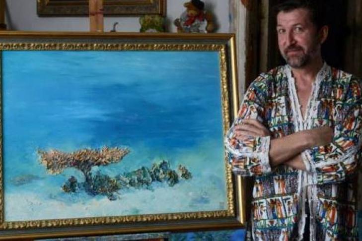 Скончался популярный украинский художник Белозор, писавший картины под водой