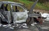 В Польше загорелся автомобиль с украинцами