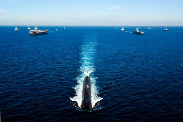 подводная лодка у берегов америки