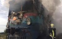 На Закарпатье поезд загорелся во время движения