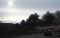 На Закарпатье горят склады (видео)