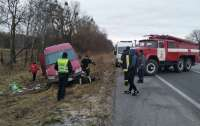 ДТП с микроавтобусом случилось на трассе Киев-Чоп
