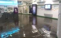 Масштабный ливень затопил улицы и метро в Париже