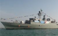 Иранский военный корабль врезался в волнорез в Каспийском море