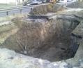 В Киеве прорвало водопровод, Голосеевский проспект перекрывали
