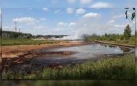 В России горит полигон с химическими отходами (видео)