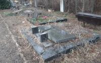 Неизвестные разгромили кладбище на Лесном в Киеве (видео)