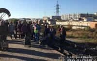 Люди остановили поезд в Сумах