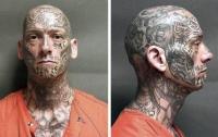 Татуированный с ног до головы преступник ударился в бега