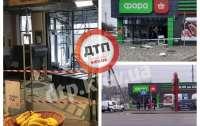 Неизвестные подорвали банкомат под магазином