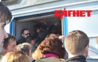 В пятницу утром сотни киевлян опоздали на работу