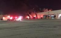 На автовокзале Детройта произошел взрыв и начался сильный пожар (ВИДЕО)