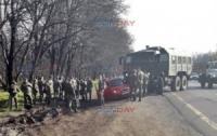 Российские солдаты устроили аварию