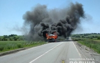 Маршрутка загорелась на ходу с пассажирами