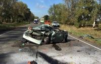 Под Киевом автомобиль влетел в маршрутку: водитель погиб на месте