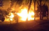 В Киеве взорвались два автомобиля (видео)
