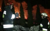 Сгорел отель в Карпатах